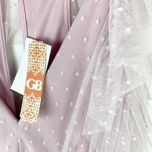 Gianni Bini Dresses - Gianni Bini lilac lavender polka dot tulle dress